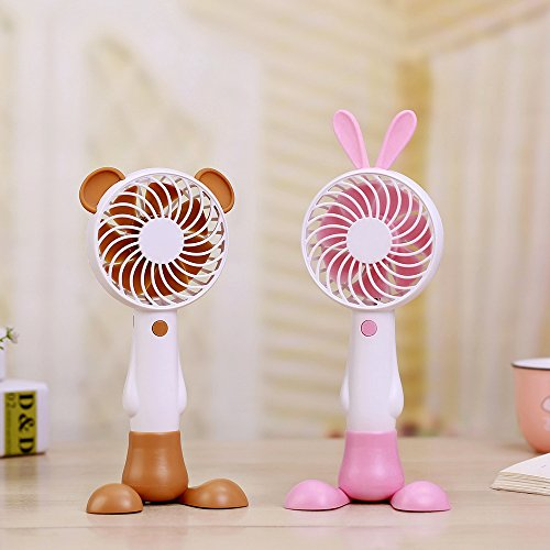 Red Highpot Mini Handheld USB Fan Portable Rechargeable Air Conditioning Cooling Cooler BE