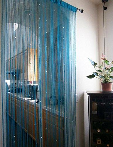 1m x 2m Door String Curtain Rare Flat Silver Ribbon