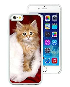 Personalization iPhone 6 Case,Christmas Cat White iPhone 6 4.7 Inch TPU Case 18