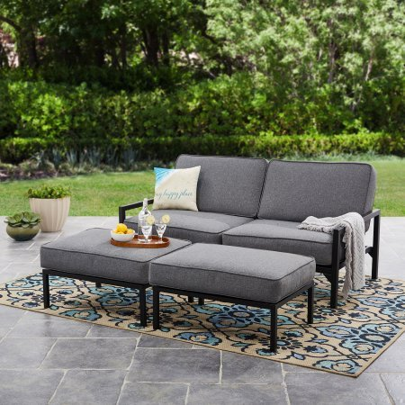 Amazon Com Mainstays Moss Falls 3pc Outdoor Sofa Daybed