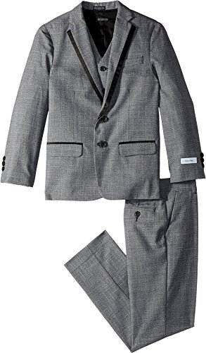 Calvin Klein Big Boys' Twist 3 Piece Suit, Medium Grey, 12 by Calvin Klein