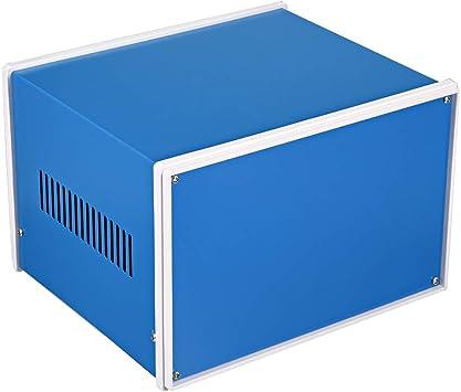 sourcing map caja de conexiones de proyecto de metal azul caja ...