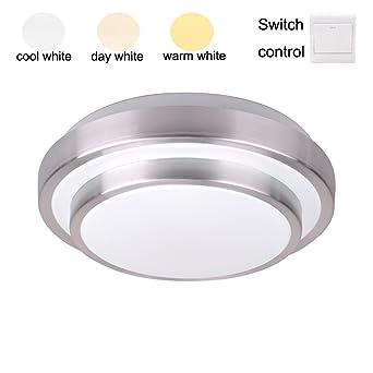 ZHMA 36W LED Deckenlampe Alu-Seiten Deckenleuchte Doppelschicht, 3 ...