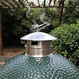 QQMaster Vented Chimney Cap Grill Chimney Top Vent Cap Stainless Steel Vented Chimney Cap BGE Accessories BBQ Top Cap Vent fits Med, Large or X-Large Big Green Egg