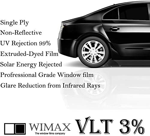 Wimax Limo 3/% VLT 24 in x 15 Ft Feet Uncut Roll Window Tint Film Auto Car Home Office
