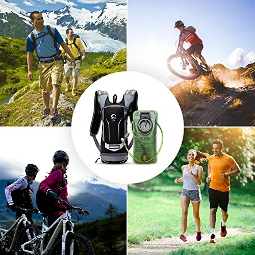 U`Be Hydration Pack - Hydration Backpack - Camel Pack Water Backpack with Insulated 2l Bladder for Women Men Kids Backpacking - Small Lightweight Water Reservoir for Running Hiking Cycling by U`Be (Image #6)