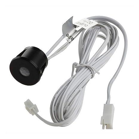 Negro Sensor Movimiento Interruptor Dc 12V On Off L/ámpara Tiempo Delay Regulable Autom/ático Corredores Hogar Luz LED Detector Cuerpo Humano Warehouse Inteligente Ba/ño Pir Infrarrojos Negro