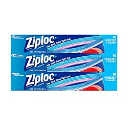 Ziploc 2-gallon Freezer Bags, 30 Count