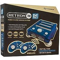 Hyperkin - Consola Retron 3, Color Azul + 2 Mandos Wireless (SNES/NES/Genesis)