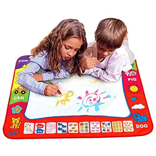 """Price comparison product image Aqua Doodle Mat Develop Intelligence Sketch Learning Toy for Boys Girls Toddlers Children,1 Color Large Magic Water Drawing Painting Writing Mat Pad Board with 2 Pen,Kids Educational Toy 31.5""""x23.62"""""""