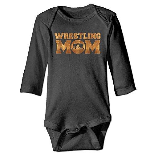 Clarissa Bertha Wrestling Mom Baby Unisex Long Sleeve Onesies Bodysuits by Clarissa Bertha
