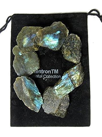 Zentron Crystal Collection: 1 Pound Natural Rough Labradorite - Genuine Rough
