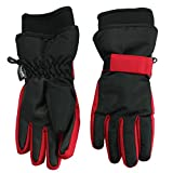 Nolan Gloves Big Boys' Sn'Owen Neoprene Cuff Ski Glove, Red/Black, Large/X-large