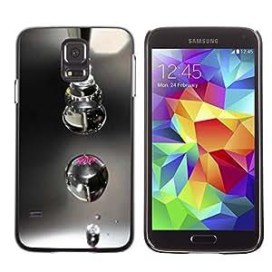 Paccase / SLIM PC / Aliminium Casa Carcasa Funda Case Cover - Design Macro Drop - Samsung Galaxy S5 SM-G900