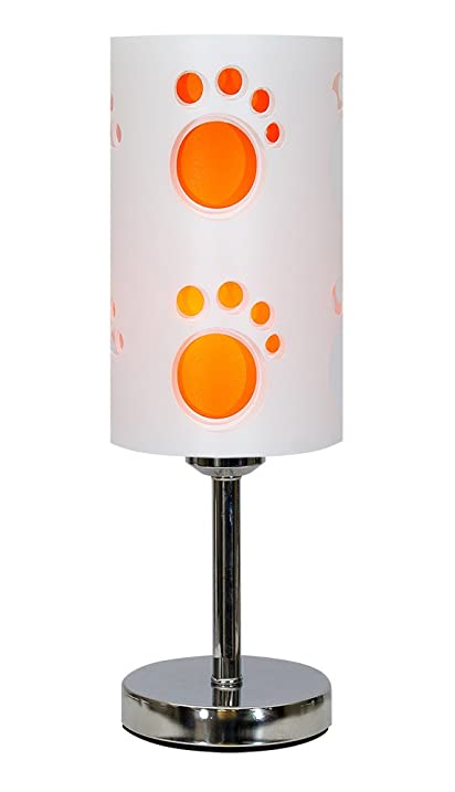 Crown essentials 52832 paw print 3 way touch table lamp white crown essentials 52832 paw print 3 way touch table lamp whiteorange mozeypictures Image collections