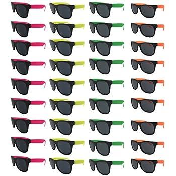 Amazon.com: TheGag White Wayfarer Sunglasses Party Pack-12 ...
