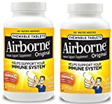 Airborne FLKsle Citrus Chewable Tablets - 1000mg of Vitamin C - Immune Support Supplement, 116 Count (2 Pack)