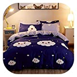 Fashion New Style of England Imitation Cotton Wool Sheets Bed Sets Pillowcases 4pcs/3pcs bedspreads Home Textiles Bedding Soft,7,Twin 3pc 150x200cm