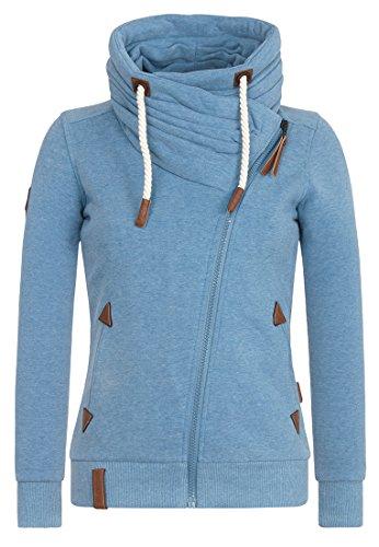 Iron Path Light (Naketano Women's Zipped Jacket Jedi Path III Light Blue Melange, S)