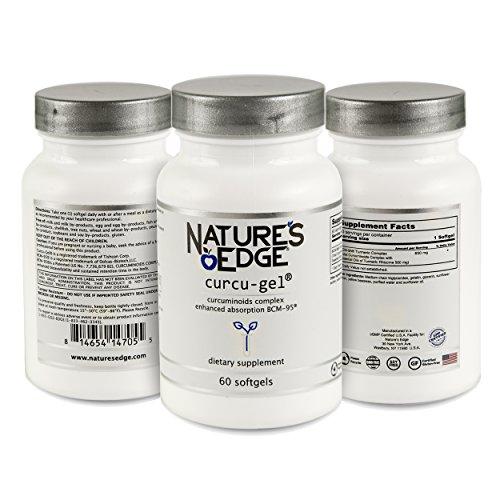 Cheap Nature's Edge curcu-Gel Ultra Powerful Antioxidant Clinically Tested Anti-Inflammatory Enhanced Bio-Curcumin Complex Non-GMO curcuminoids with Essential Oils of Turmeric Rhizome- 500mg