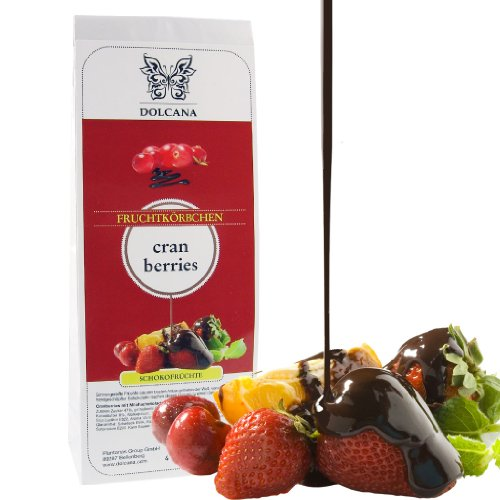 Dolcana Schokofrüchte - Cranberries in weißer Schokolade, 1er Pack (1 x 150 g Packung)