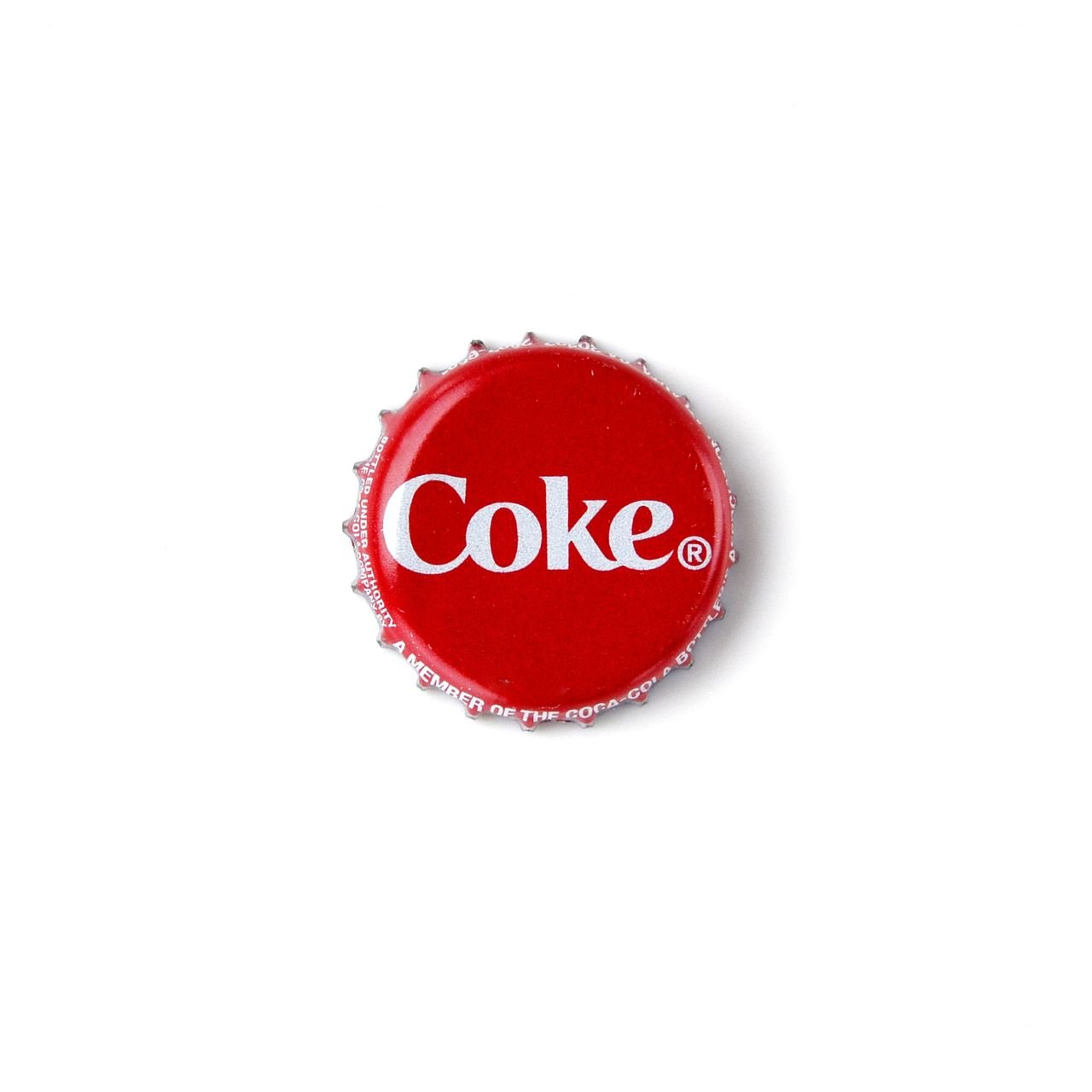 Coke Bottle Cap Lapel Pin
