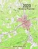 2020 Weekly Planner: Bremen, Georgia (1973): Vintage Topo Map Cover