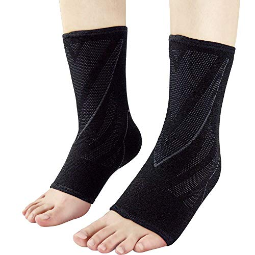 Ankle Brace Support Compression Sleeve (Pair) Sports Protect Ankle Compression Socks for Ankle & Arch Support, Plantar Fasciitis, Achilles Tendon, Joint Pain, Injury Recovery, Relieve Pain (X-Large)