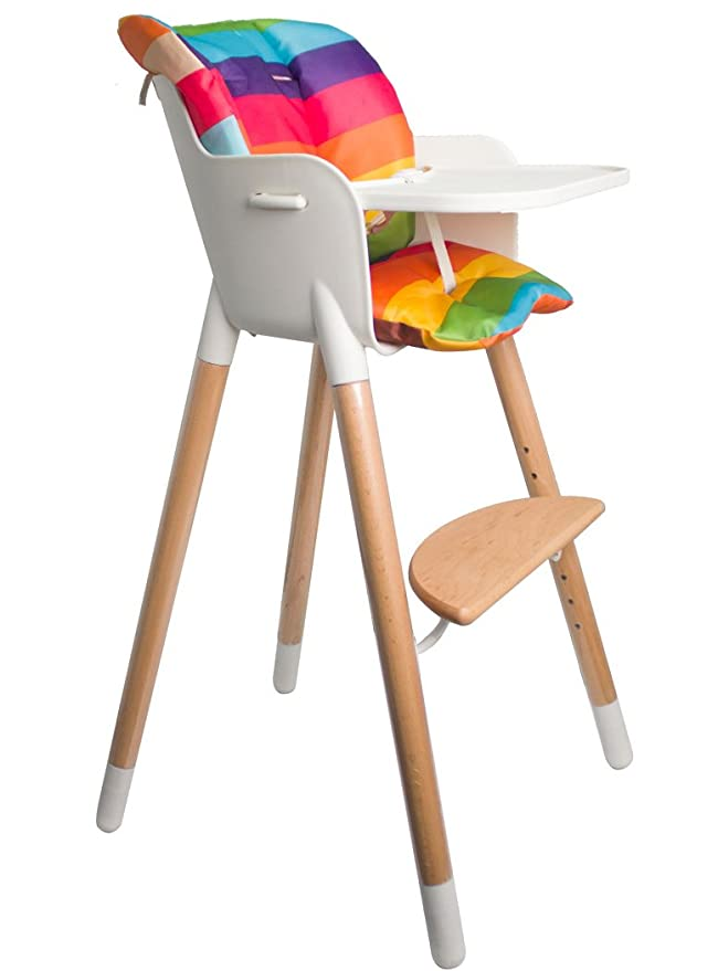 Cotton Baby high chair cushion coated Okeo-tex  Ethnik turquoise
