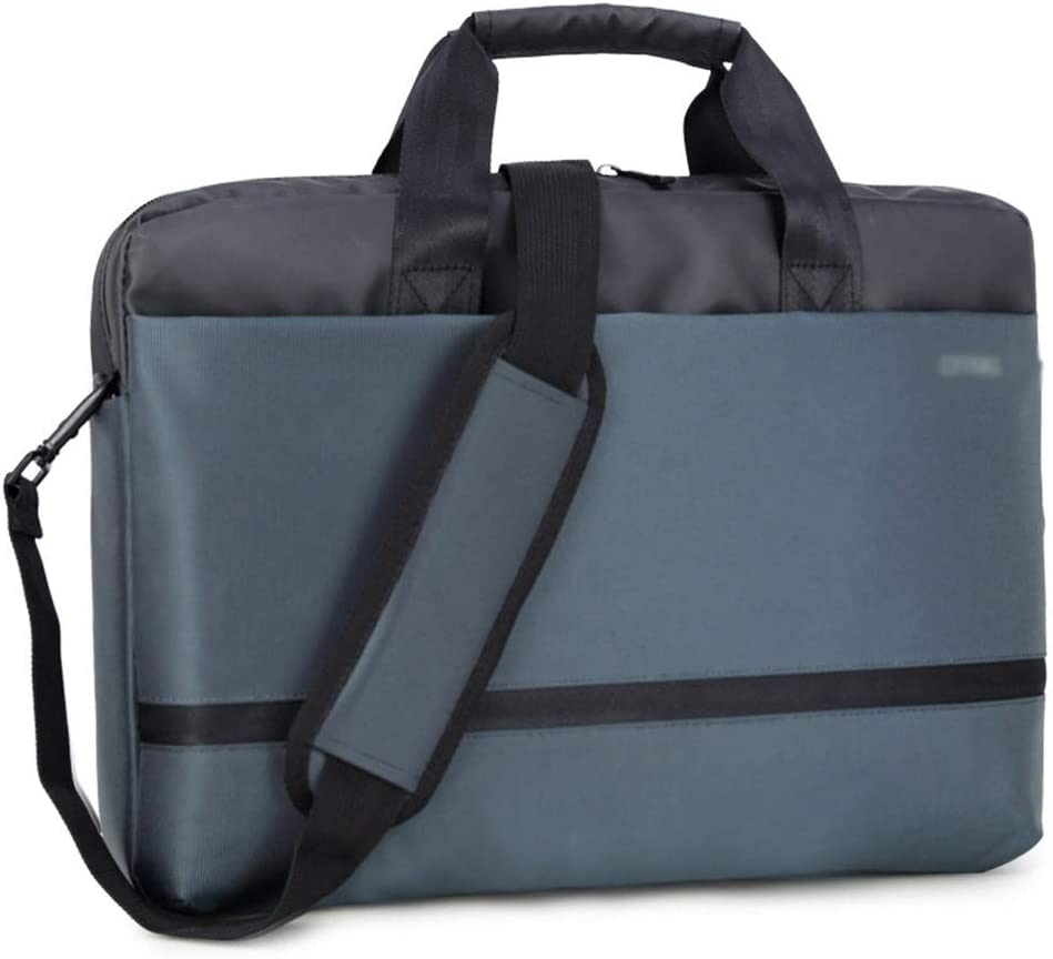 Lorachun Business Waterproof Shockproof Multi-Function Blue Notebook Tote 15 Inch Color : Blue, Size : 15inch