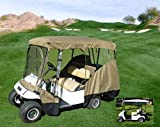"FC Formosa Covers Golf Cart Driving Enclosure for 4 Passengers roof up to 80"" L, fits Club car, EZGo and Yamaha G model - All Weather"
