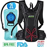 Hydration Backpack for Women Men Kids - 2l Running Hydration Pack - Best Camel Tactical Backpack - Clear Insulated Hydration Pack - Small Water Bladder Backpack - Sports Hiking Outdoor Hydration Pack