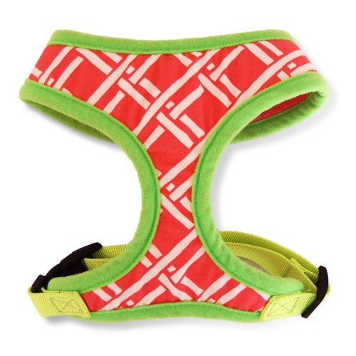 Innovative Coral Geometric, Choke Free, Designer Dog Vest Harness, Soft and Lightweight, Size Small #10, My Pet Supplies