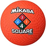 Mikasa P850 Four Square Model Dodegball Völkerball Brennball, Orange, 3