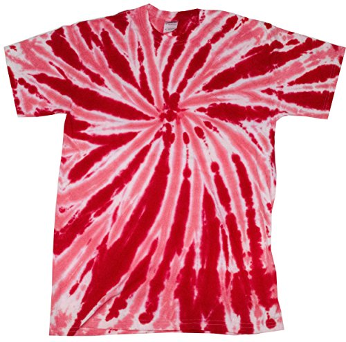 Colortone Tie Dye T-Shirt MD Twist Red