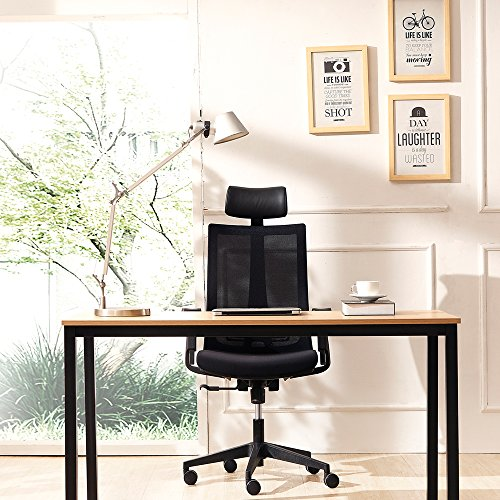 CMO Mesh Ergonomic Office Managers High Back Chair with 2-to-1 Synchro-Tilt Control, Big and Tall Ergonomic Chair with Adjustable Armrests and Headrest, Black by CMO