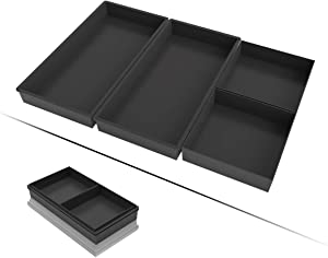 Baking Sheet, Toaster Oven Pans Ugraded Silicone Baking trays Nonstick Cooking Pan Dividers, Oven Tray Baking Pan Heat Resistant Bakeware Set for Half Sheet Pan, Easily Clean Dishwasher Safe 4 Pcs Set