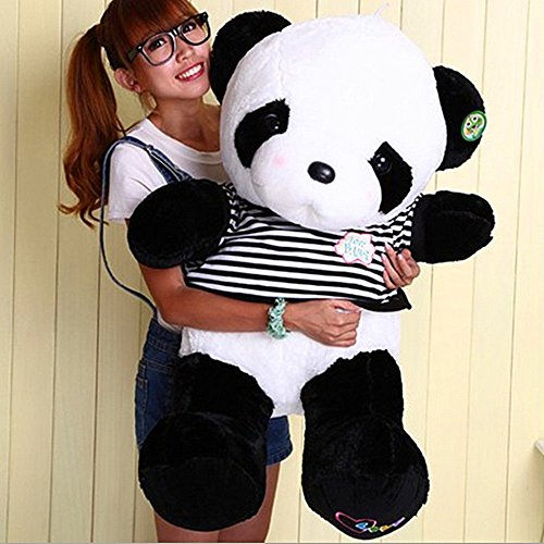 80CM Cuddly Stuffed Teddy Bear Toy Plush for Girl Children White - 1
