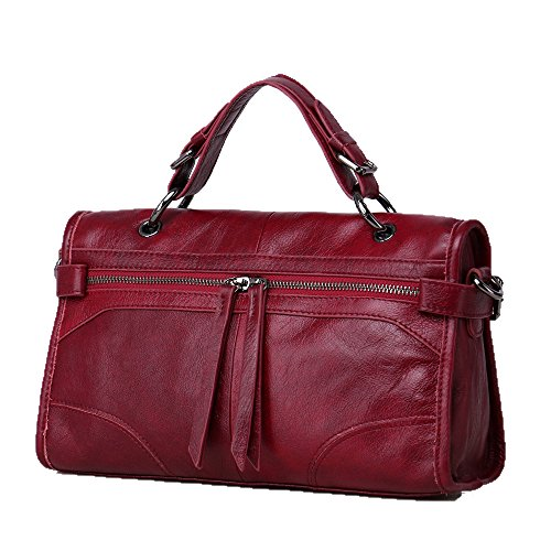 Bag Dual Small Classic Locomotive Slung Female Portable Elements Material New Cowhide Red Bag use qPAYc