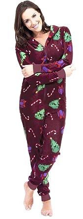 Amazon.com: Ladies Christmas Design Hooded Onesie Red Large: Clothing