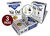 Nic-Out Cigarette Filters 3 Packs (90 Filters) Smoking Free Tar & Nicotine Disposable Nicout Holders...