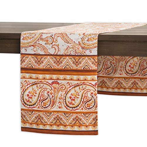 (Maison d' Hermine Palatial Paisley 100% Cotton Table Runner 14.50 - Inch by 72 - Inch.)