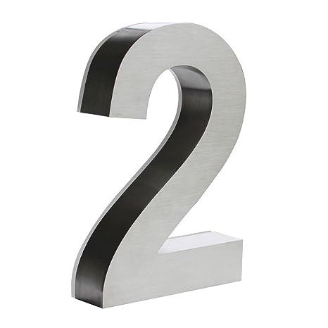 LED Número de la Casa Acero Inoxidable Arial 3D 18 cm V2Aox ...