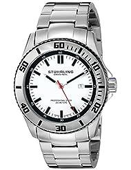 Stuhrling Original Men's 714.01 Aquadiver Regatta Bermuda Swiss Quartz Professional Diver Stainless Steel Bracelet Watch