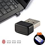 Kercan Mini USB Fingerprint Reader for Windows 7,8 & 10 Hello 360° Touch Speedy Matching + 4 Port Aluminum USB HUB