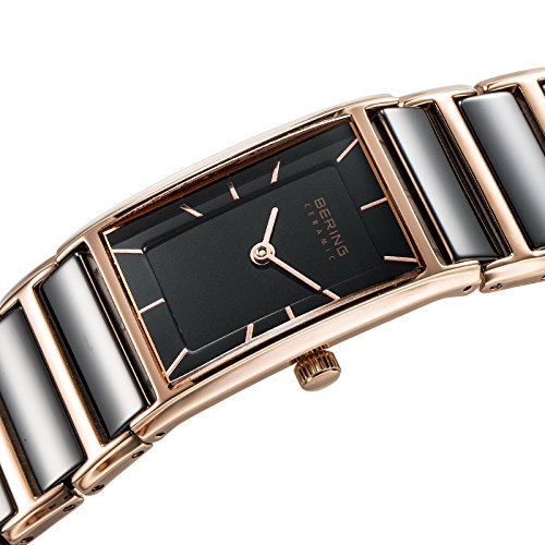 BERING Time 30121-746 Women's Ceramic Collection Watch with Ceramic Link Band and scratch resistant sapphire crystal. Designed in Denmark.