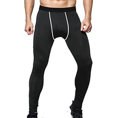 4aa5f65d54b Kootk Men Cycling Pants Skinny Joggers Thermal Leggings Underwear Base  Layer Trousers Jogging Bottoms Underwear Sportswear Quick Dry Compression  Tights XL  ...