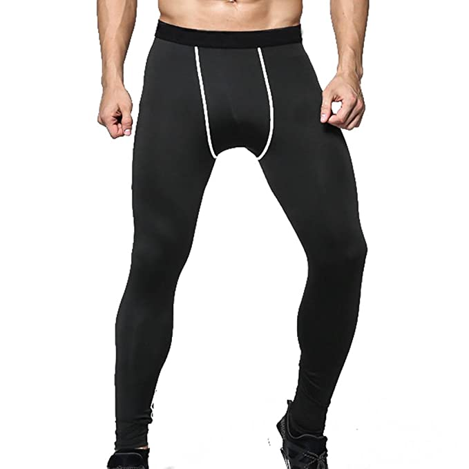 Men/'s Compression Gym Tights Base Layer Fitness Trousers Sports Running Pants