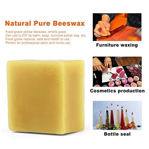 amarillo Cosm/ética natural miel muebles cera polaca 100/% org/ánica natural pura cera de abejas grado alimenticio amarillo cera de abejas DIY b/álsamo labial