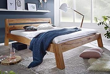Main Möbel Bett Holz massiv Eiche \'Mike\' 200x200cm Wildeiche geölt ...